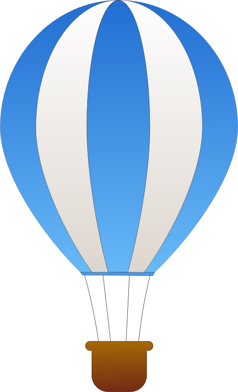 Vertical Striped Hot Air Balloons by maidis