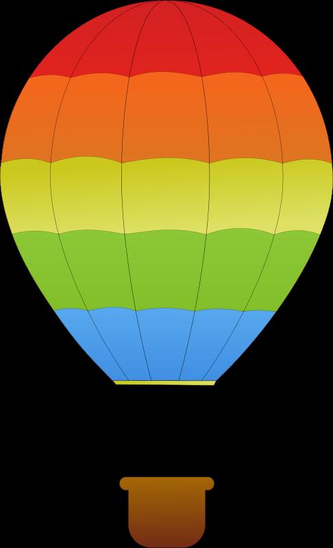 Clipart horizontal striped hot air balloons