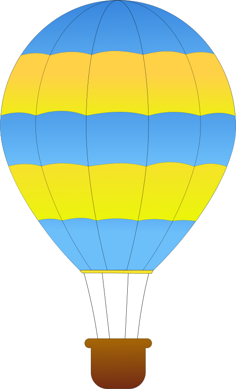 Horizontal Striped Hot Air Balloons 1 by maidis