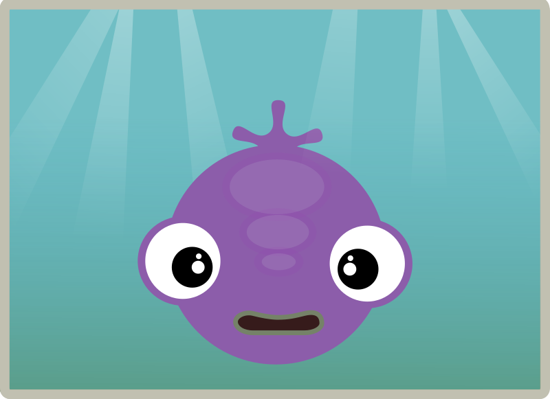 Cute fish in water by anarres - A simple fish I made based on the gradients tutorial at  http://2dgameartforprogrammers.blogspot.co.uk/2011/10/more-fun-with-gradients.html and the circles tutorial at http://2dgameartforprogrammers.b