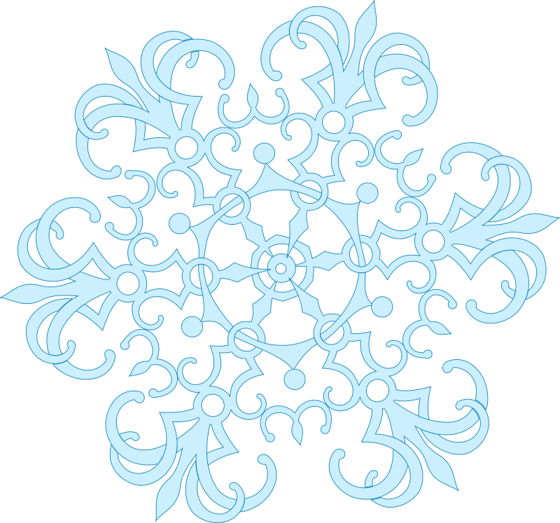 Clipart - snow flake