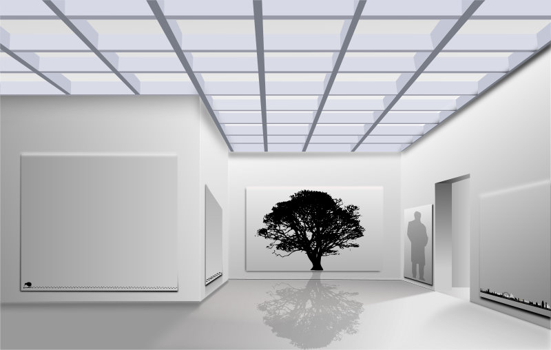 Cubic by roshellin - A cubic tree in an office complex.