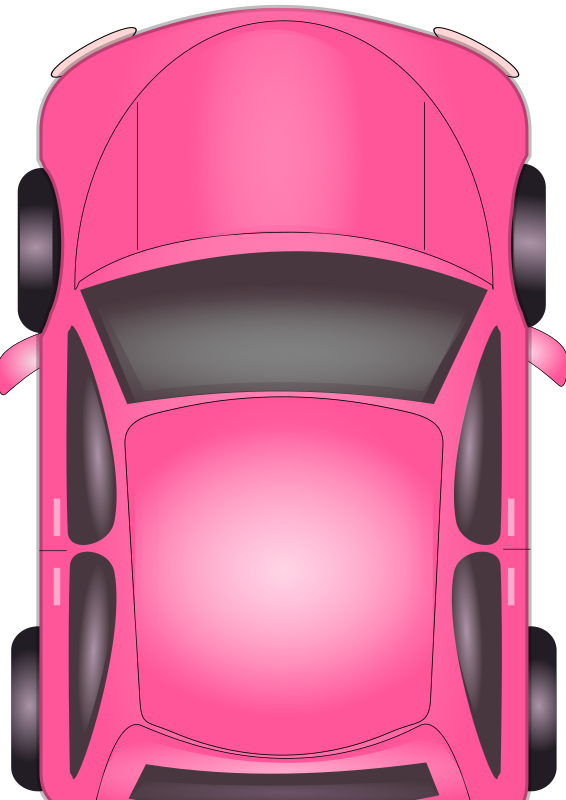 Pink Car by DinaMostafa - A Top view illustration of a car