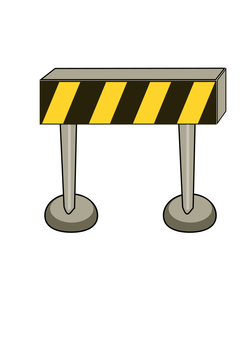 Road Barrier by DinaMostafa - An illustration of one type of a road barrier