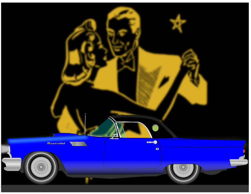FIFTIES AUTOMOBILE by charner1963 - MADE WITH INKSCAPE