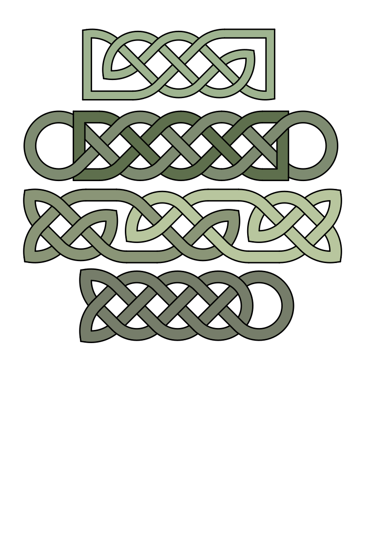 Celtic knot patterns by Craftsmanspace