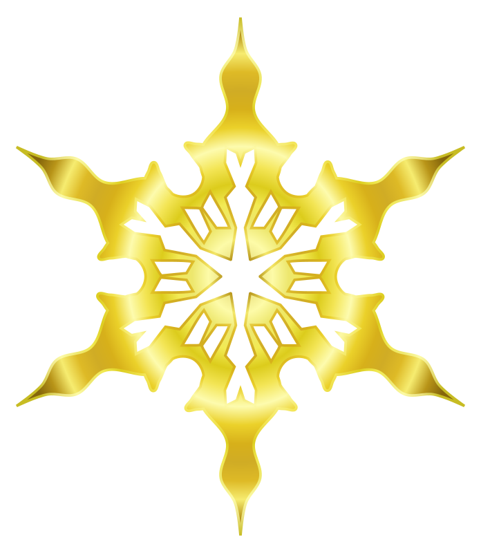 Snowflake 8 (gold) by Arvin61r58 - Gold colored snowflake