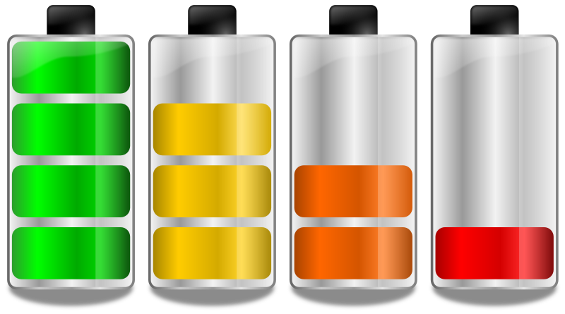 Battery levels. Niveles de carga de batería by Ehecatl1138 - Different levels of capacity on a battery. Diferentes niveles de capacidad de la batería.