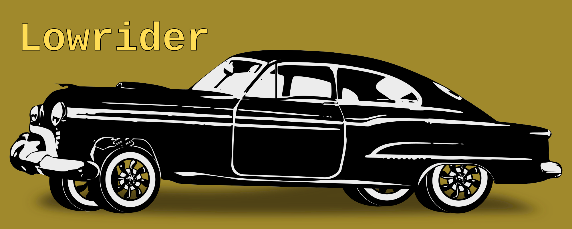 Lowrider by Dux Phoenix - Customized Oldsmobile 1950. A lowrider (sometimes low rider) is an automobile so that its ground clearance is less than its design specification. Many Lowriders feature custom hydraulic suspensions that allow the driver to alter the ride height at will.