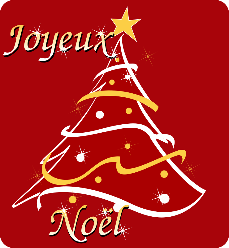 Joyeux Noel - Merry Christmas in french by cyberscooty - A Christmas card in French