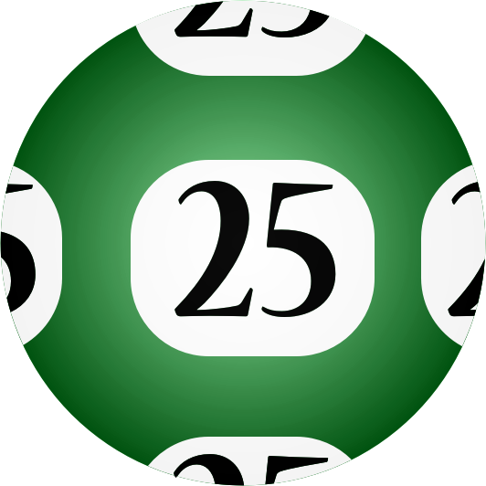 Clipart - #25 Lotto Ball