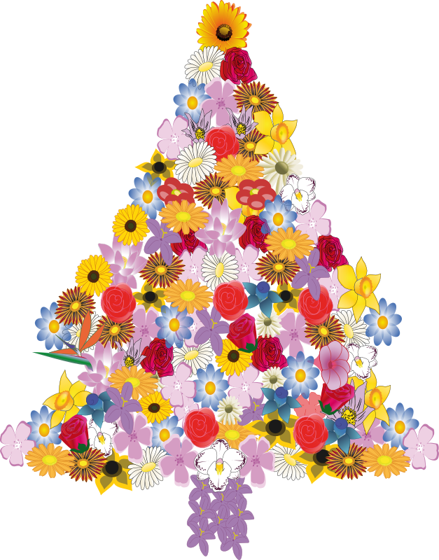 Christmas tree in bloom by presquesage - sapin de noël en fleur