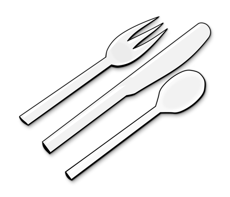 forks spoons coloring pages - photo#21