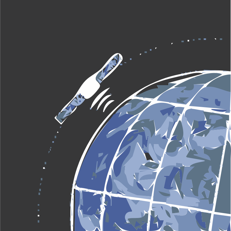 Satellite Orbiting Earth by unite_america - , , , ing, , , , , ing Simple graphic of a man made satellite orbiting the earth.