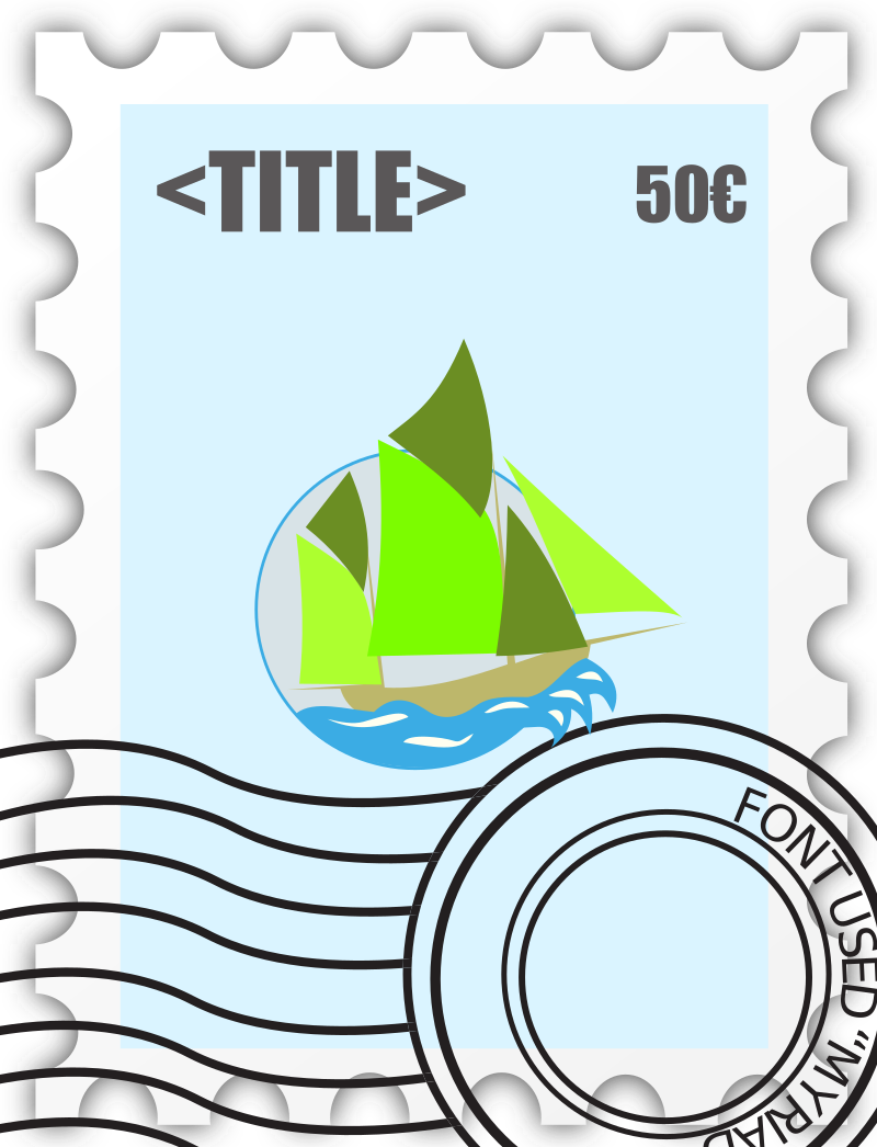 Postage Stampe template by ben - Postage stamp template.
