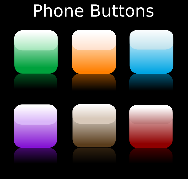 Phone Buttons by ben - Glossy mobile phone background icons.
