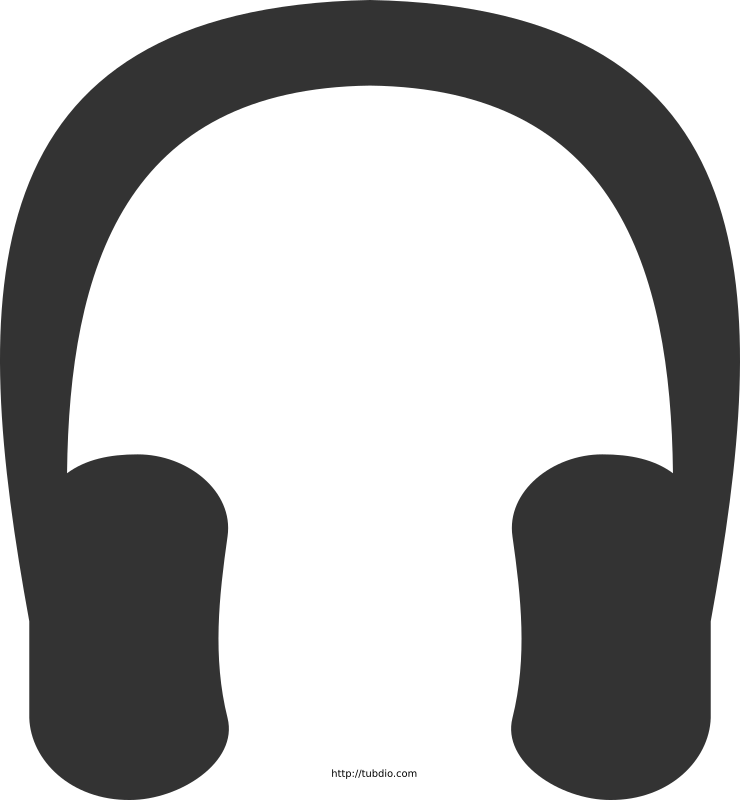 Headphones icon by mlampret - Free headphones icon illustration. Listen music.