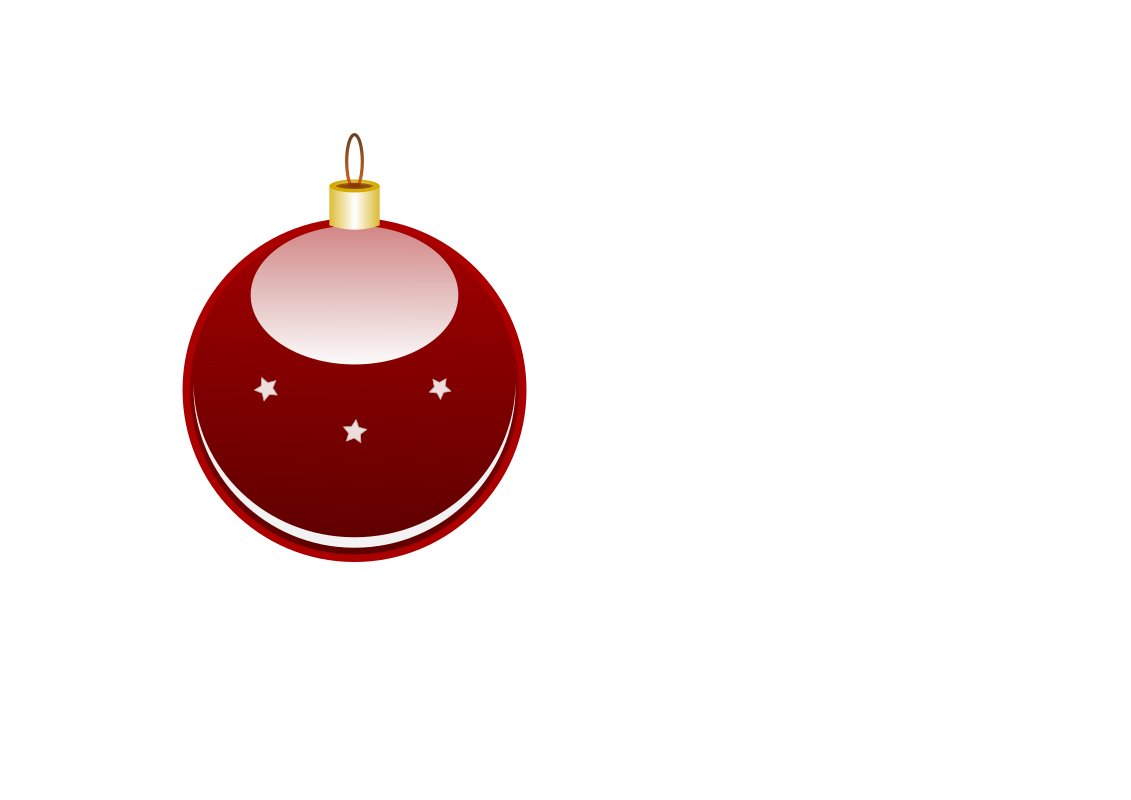 Christmas globe by anonim76 - A glossy red ball you can hang on your own Christmas tree, featuring a golden hanger and some small, white stars.