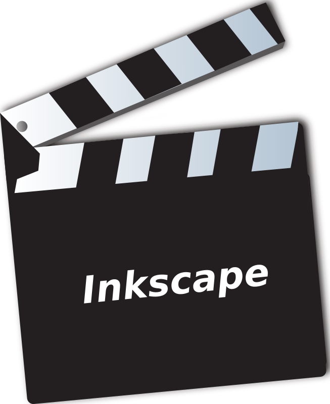 Movie clapper by ben - Movie clapper inkscape logo.