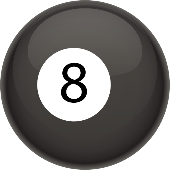 8 Ball by casino - A billiard 8 ball