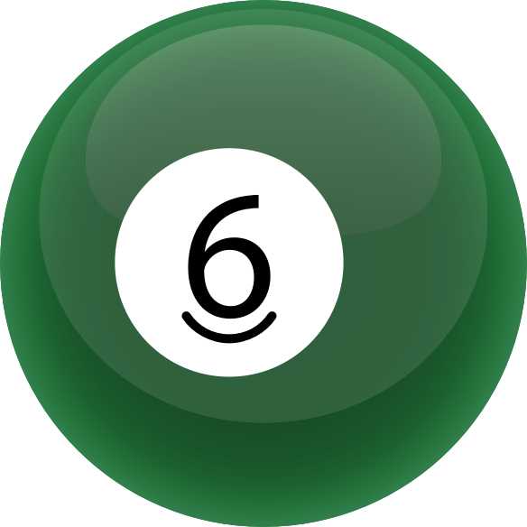 6 Ball by casino - Solid 6 billiard ball