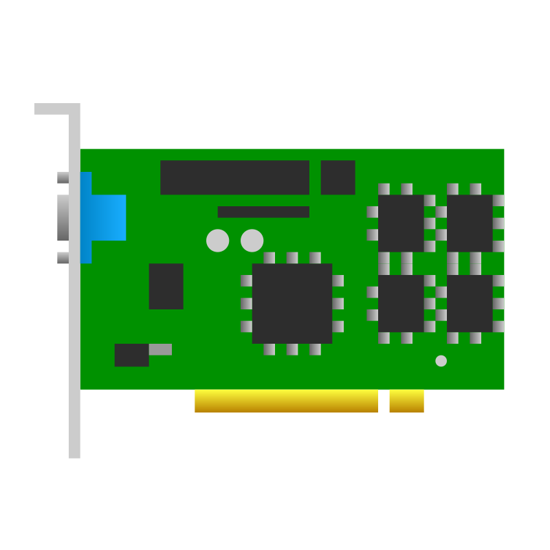PCI video card icon by jhnri4 - A PCI video card.
