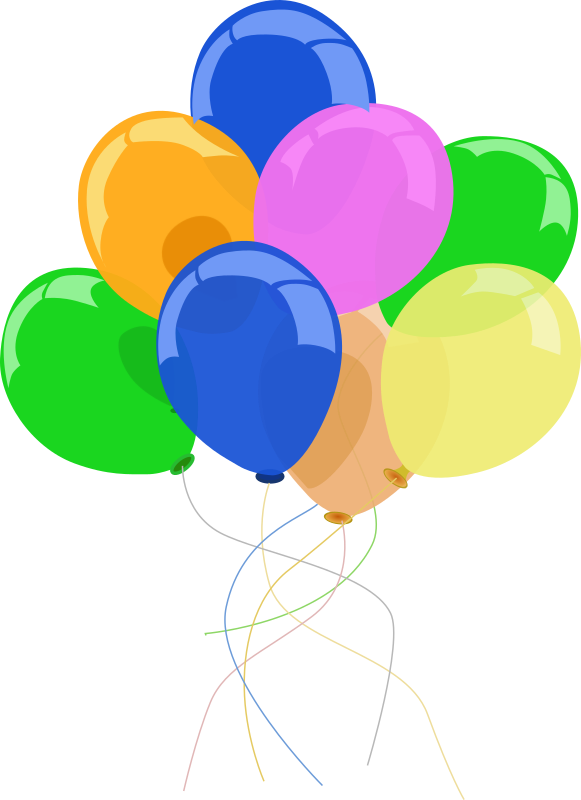 Graphics For Luftballons Clipart