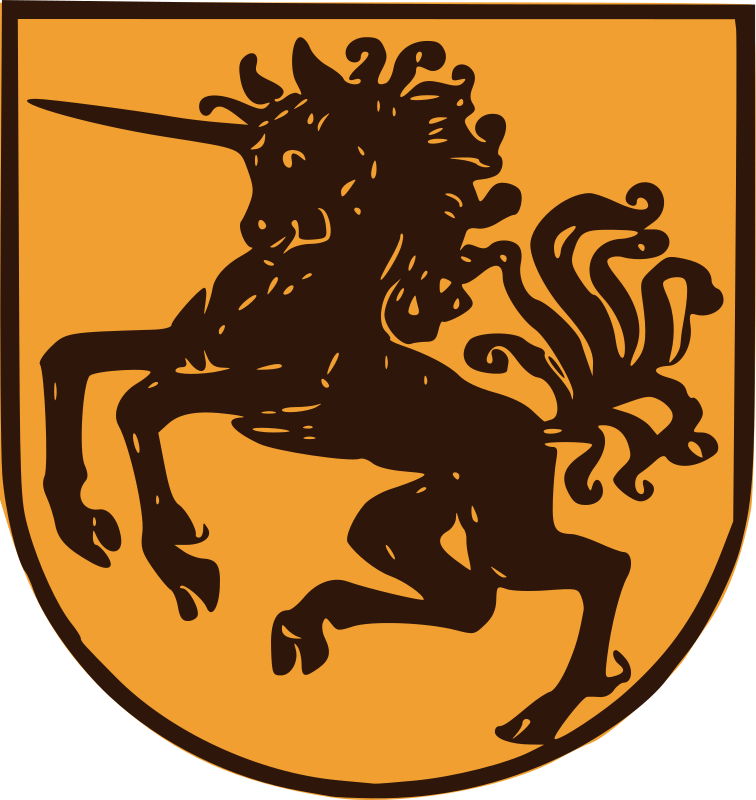 Wild Unicorn Shield by j4p4n - This is from the Netherlands. It is awesome. I'm not sure if I'd be scared of this symbol in battle, but I know I'd never be able to fight someone with such a truly awesome shield. I'd try to swap t