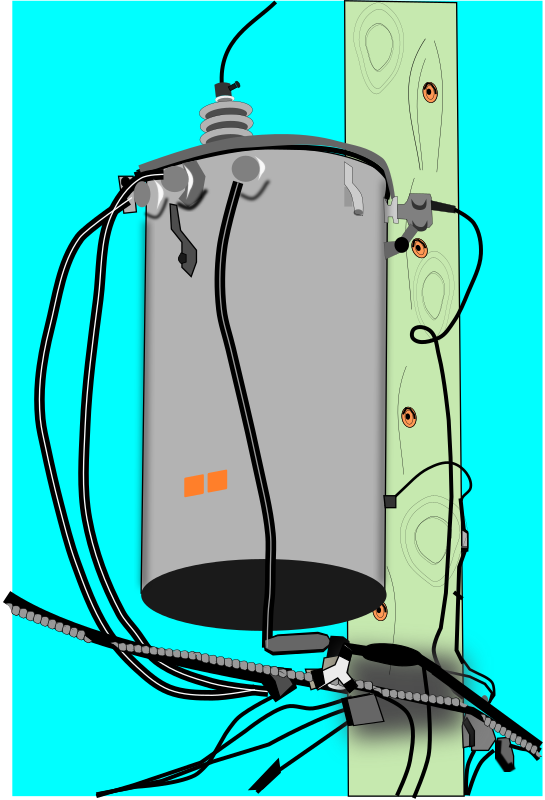 Clipart - Electric Utility Transformer