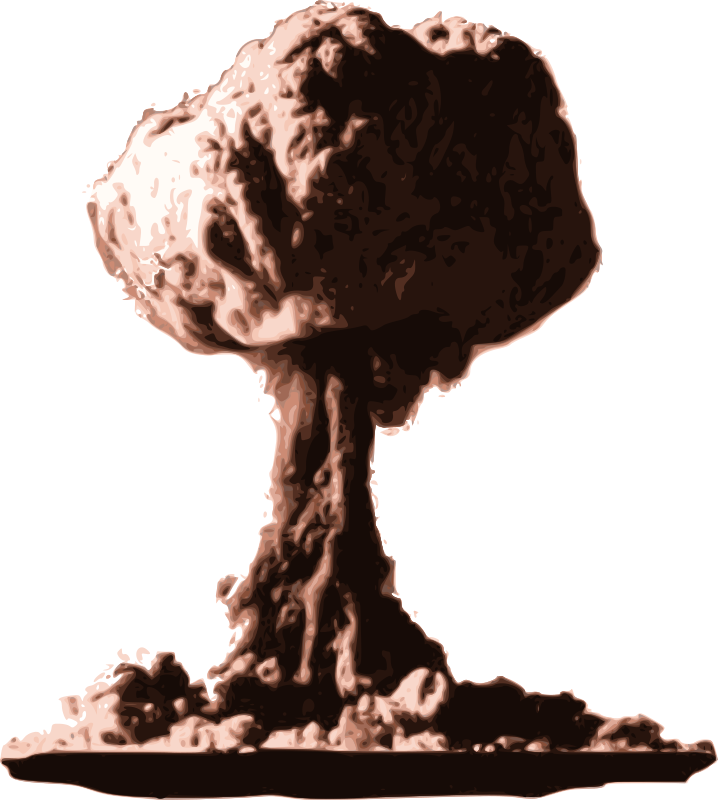 Mushroom Cloud - Boom! by j4p4n - The lives of many in a burning fire ball. This is the destruction of worlds.