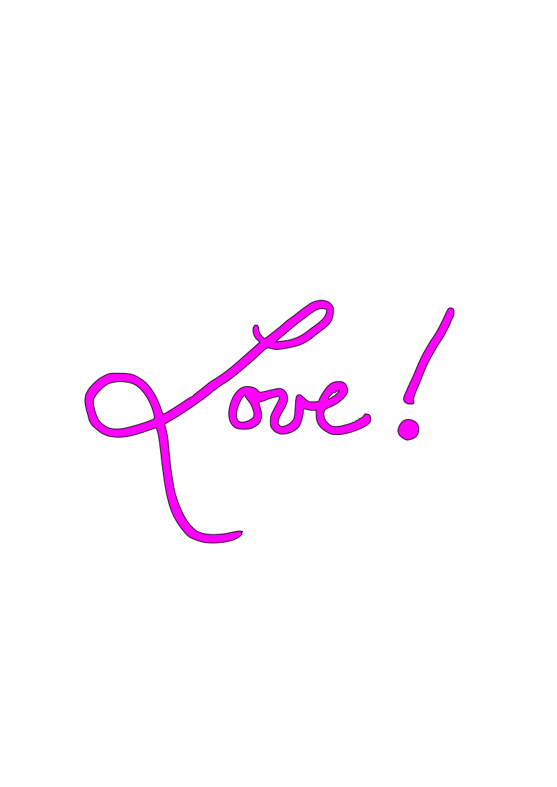 Love  by kaleah777 - Handwritten cursive love