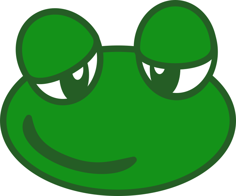 Frog by PeterM - A clip art of a frog head
