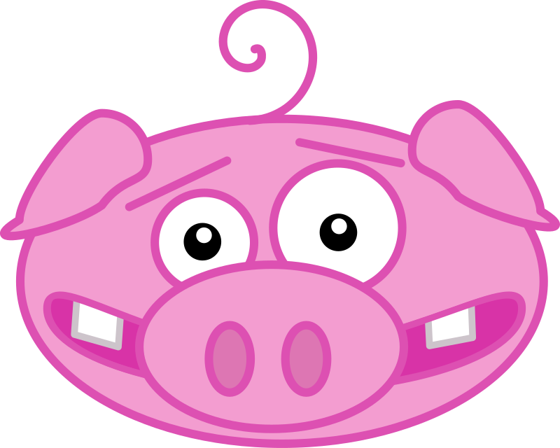 Pig by PeterM - A pink pig head wit a ring through his nose