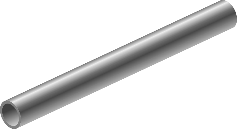 Pipe by barretr - A metal pipe, for whatever reason (maybe the filter?) only visible in inkscape.
