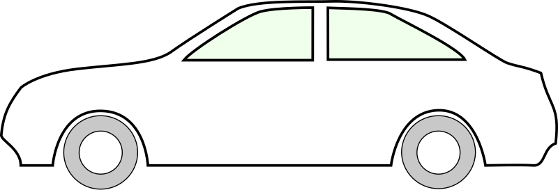 Simple side of car by Z - car outline - white
