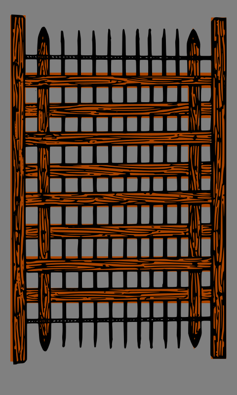 Portcullis by lordoftheloch - a portcullis, converted to SVG and redrawn from artwork at wikimedia commons