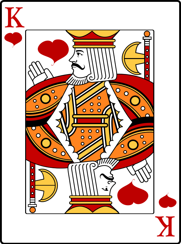 King of Hearts by casino - King of hearts playing card
