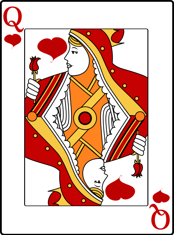 Queen of Hearts by casino - Queen of hearts playing card