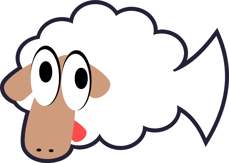 White Stupid & Cute Cartoon Fish Sheep by qubodup