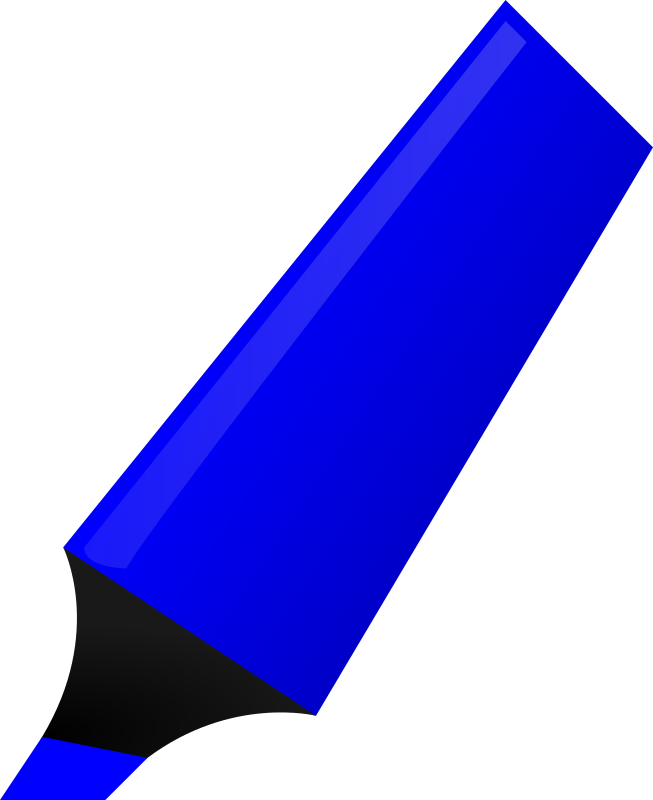 Blue Highlighter by matheod