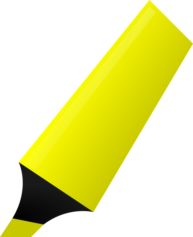 Clipart - Yellow Highlighter