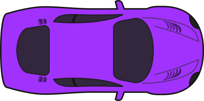 Purple Racing Car (Top View) by qubodup - A colored version of sheikh_tuhin's excellent racing car without shading.