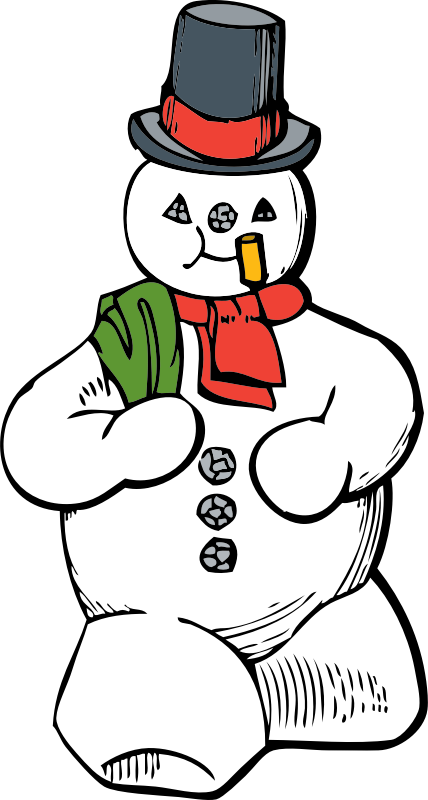 snowman by johnny_automatic - a Christmas themed snowman from a U.S. patent drawing