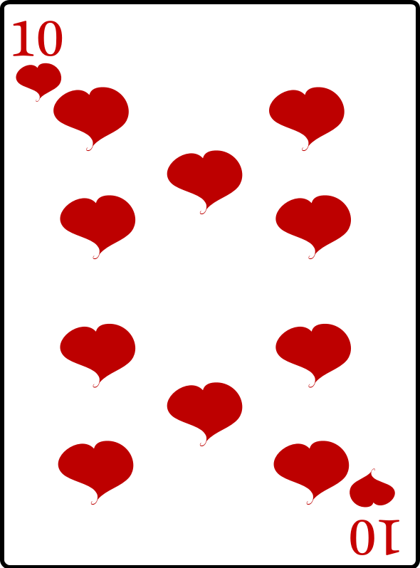 10 of Hearts by casino - 10 of hearts playing card