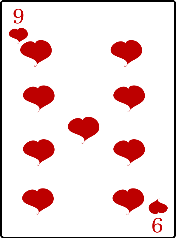 Clipart - 9 of Hearts