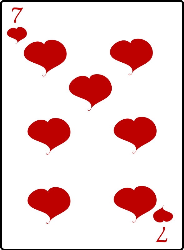 7 of Hearts by casino - 7 of hearts playing card