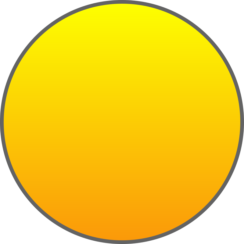 Orange Sun Outlined by qubodup - Game sprite made for http://g.qubodup ...
