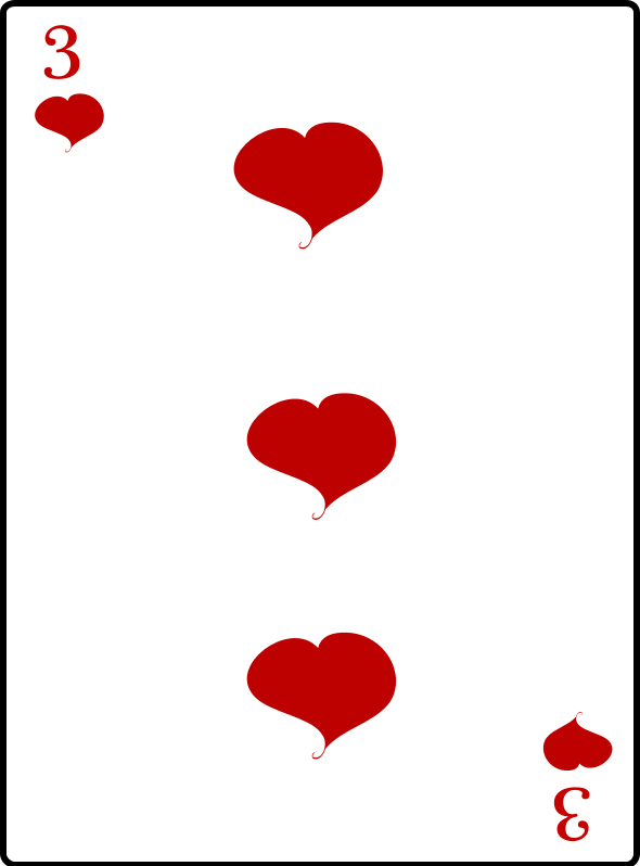 3 of Hearts by casino