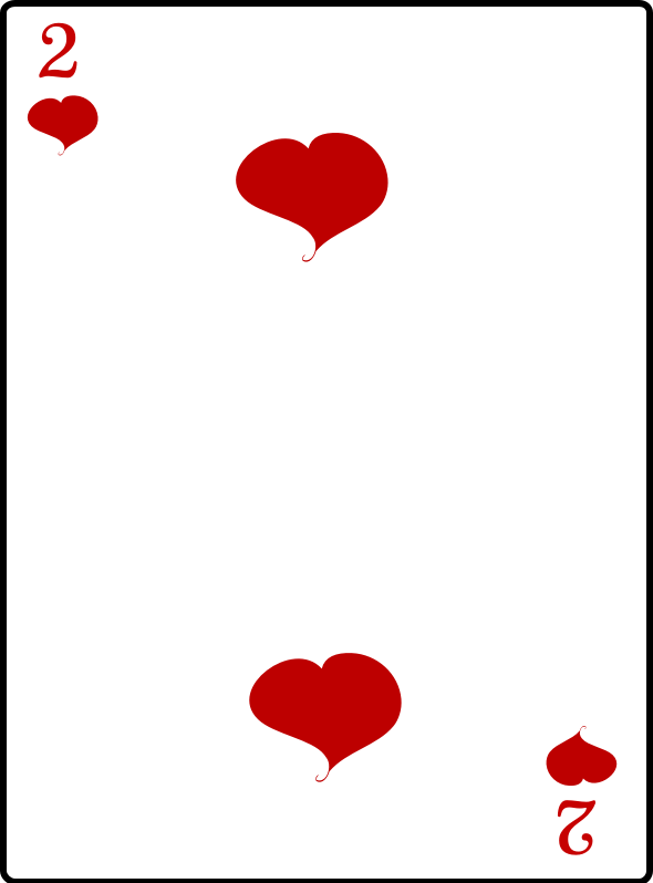 Clipart - 2 of Hearts