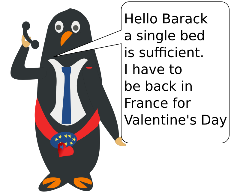hello Barack! Here is Francis. by chatard - A political cartoon.